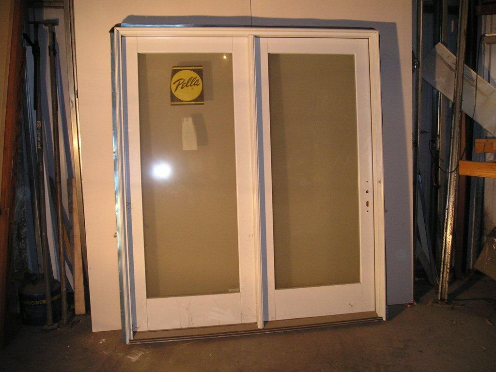 768 #A77A24 Pella Full View Patio Door Unit 6/0x6/8 For 6/9 JambWhite picture/photo Full View Entry Doors 43691024